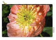 Peach Colored Poppy Carry-all Pouch