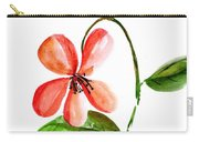 Peach Flower Carry-all Pouch