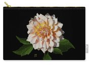 Peach-n-yellow Dahlia Cutout Carry-all Pouch