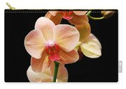 Peach Orchids Carry-all Pouch