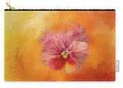 Peach Pansy Carry-all Pouch