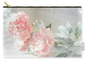 Peach Peonies Impressionistic Peony Floral Prints - French Impressionistic Peach Peony Prints Carry-all Pouch