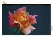 Peach Rose Bud Carry-all Pouch