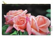 Peach Rosebud Trio Carry-all Pouch