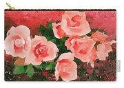 Peach Roses Carry-all Pouch