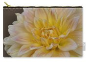 Peaches And Cream Dahlia Carry-all Pouch