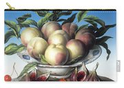 Peaches In Delft Bowl With Purple Figs Carry-all Pouch