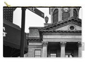 Peachtree And Central In Black And White Carry-all Pouch