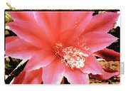 Peachy Pink Cactus Orchid Carry-all Pouch