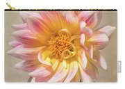 Peachy Pink Dahlia Close-up Carry-all Pouch