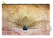 Peacock Bird Textured Background Carry-all Pouch