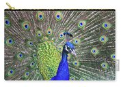 Peacock Colors Carry-all Pouch