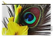 Peacock Feather And Gladiola 3 Carry-all Pouch