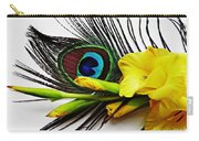 Peacock Feather And Gladiola 4 Carry-all Pouch