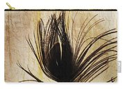 Peacock Feather Silhouette Carry-all Pouch