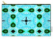 Peacock Feathers Abstract Carry-all Pouch