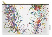 Peacock Feathers-colorful Carry-all Pouch