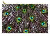 Peacock Feathers Upside Down Carry-all Pouch