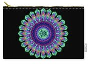 Peacock Fractal Flower 5 Carry-all Pouch