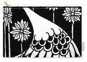 Peacock Illustration From Le Morte D'arthur By Thomas Malory Carry-all Pouch