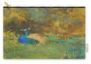 Peacock In A Garden Carry-all Pouch