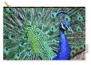 Peacock In A Oak Glen Autumn 2 Carry-all Pouch
