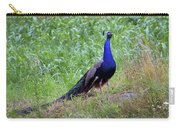 Peacock In Cornfield Carry-all Pouch