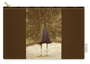 Peacock In Sepia Carry-all Pouch