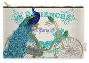 Peacock On Bicycle-jp3608 Carry-all Pouch
