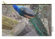 Peacock On Woodpile Carry-all Pouch