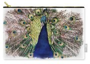Peacock Vignette Carry-all Pouch