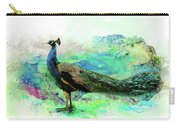Peacock Water Digital Painting  Carry-all Pouch