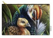 Peahen And Chick Carry-all Pouch