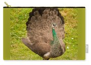 A Peahen's Plumage Carry-all Pouch