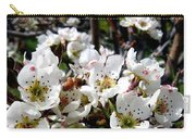 Pear Blossoms And Bee Carry-all Pouch