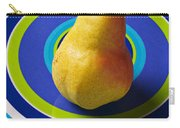 Pear On Plate With Circles Carry-all Pouch