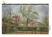 Pear Trees And Flowers At Eragny Carry-all Pouch by Camille Pissarro
