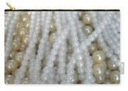 Pearl Beads - White And Beige Carry-all Pouch