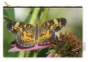 Pearl Crescent Butterfly On Coneflower Carry-all Pouch