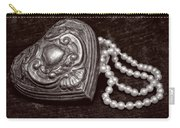 Pearls From The Heart - Sepia Carry-all Pouch