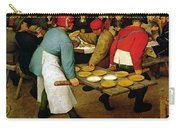Peasant Wedding Carry-all Pouch by Pieter the Elder Bruegel