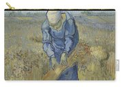 Peasant Woman Binding Sheaves After Millet Saint Remy De Provence  September 1889 Vincent Van Gogh Carry-all Pouch