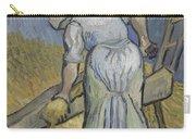 Peasant Woman Bruising Flax After Millet Saint Remy De Provence September 1889 Vincent Van Gogh  Carry-all Pouch