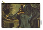 Peasant Woman Cooking By A Fireplace Carry-all Pouch