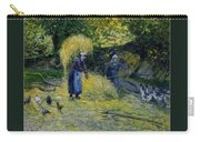 Peasants Carrying Straw Montfoucault 1875 Camille Pissarro Carry-all Pouch