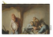 Peasants In The Interior Of An Inn Carry-all Pouch