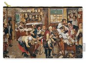 Peasants Paying Tithes By Pieter Bruegel I Carry-all Pouch