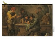 Peasants Playing Dice Carry-all Pouch