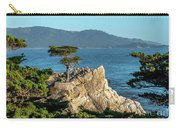 Pebble Beach Iconic Tree With Sun Light At Dusk Carry-all Pouch