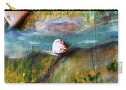 Pebbles At  The Stream Carry-all Pouch by Augusta Stylianou